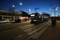 Tram on Mannerheimintie, Helsinki (Josh Khaw) Tags: tram night helsinki street road