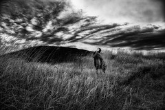 Burning land (KT) (HarQ Photography) Tags: monochrome blackandwhite nikon d800e 24120mmf4 portrait conceptual kumamoto japan aso absoluteblackandwhite