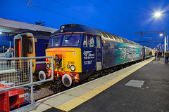 DRS 57307 Blackpool North (daveymills37886) Tags: drs 57307 blackpool north class 57 573 direct rail services pathfinder tours blue boys loco fest