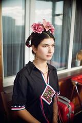 Frida Kahlo cosplay-2 (asahi demartiny) Tags: frida fridakahlo kahlo pentax film kodak200 pentaxasahi asahi плёнка