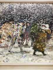Der Schnee. / 06.03.2019 (ben.kaden) Tags: berlin berlinmitte malerei schneesturm haraldmetzkes 1989 kunstderddr malereiderddr 2019 06032019