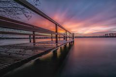 DSC03342 (karstenlützen) Tags: germany brandenburg markbrandenburg badsaarow fontanepark jetty pier longexposure sunrise