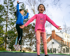Outside fun (Ed Gloria) Tags: son daughter brother sister trampoline outside exercise playing boy girl fun