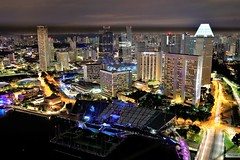 MBS Night_2018123002 (dyong74) Tags: singapore marina bay sands mbs nightscape cityscape landscape skyline night scenery mandarin oriental hotel ritz carlton floating platform water pan pacific esplande