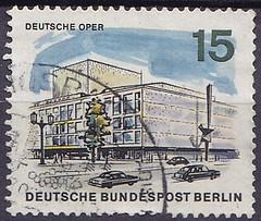 Deutsche Briefmarken (micky the pixel) Tags: briefmarke stamp ephemera deutschland bundespost berlin gebäude building oper charlottenburg bismarckstrase