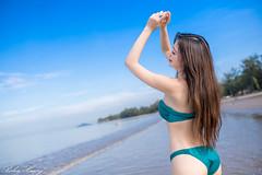 DSC_9520 (Robin Huang 35) Tags: 亞庇縣 沙巴 馬來西亞 my 謝立琪 kiki sabah malaysia 丹絨亞路 海邊 海灘 沙灘 beach 泳裝 比基尼 bikini 遊拍 人像 portrait lady girl nikon d850 亞庇