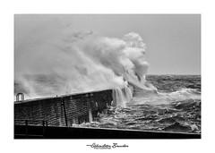Visage de la mer - 2 (Seb BAUDIN) Tags: nikon d7000 noir et blanc monochrome black white vague mer océan sea ocean wave tempête storm freya morbihan bretagne brittany breizh sébastien baudin