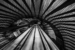 steely spiral (Blende1.8) Tags: london uk unitedkingdom england underground stair stairs staircase spiralstaircase spiral wendeltreppe treppe treppen metro architecture circular circularstair stahl steel indoor nikon d610 1635mm wideangle lines line mono monochrome blackandwhite bw sw bnw