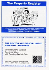 Reading vs Bristol City - 1989 - Page 5 (The Sky Strikers) Tags: reading bristol city the royal elm park littlewoods cup road to wembley matchday programme one pound