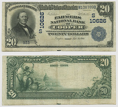 United States $20.00 (twenty dollars) national currency (SMU Libraries Digital Collections) Tags: texas money national us united states currency paper banks notes note banknote banknotes chartered bank banking delta cooper deltacounty