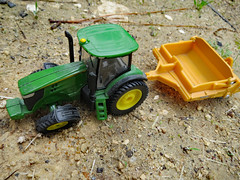 Diecast On Dirt. (dccradio) Tags: lumberton nc northcarolina robesoncounty outdoor outdoors outside diecast toy toys scraper tractor ertl johndeere deere 7280r dirtstones pebbles rocks constructionequipment ag agriculture agricultural farm farming canon powershot elph 520hs