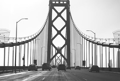 Crossing #2 (Pedro Freithas) Tags: oakland bay bridge san francisco area building california road freeway dark black white ponte arquitetura cabos cable concrete tunnel art fineart photography architecture city cityscape