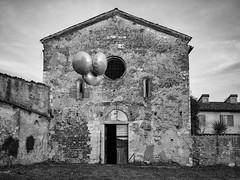 Balloons (Riccardo Palazzani - Italy) Tags: brescia church giacomo ballons art chiesa abandoned ruined