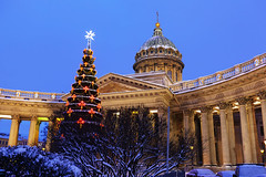 Christmas. Dome of the Kazan Cathedral. (fedoseenko) Tags: санктпетербург россия красота colour beauty blissful loveliness beautiful saintpetersburg art dazzling light russia park peace white небо color sky pretty view heaven mood serene colours picture architecture building history tsar outdoors night ночь orthodox church cathedral cupola domes door gate religion snow frost freeze frosty снег места святыни собор field holy shrines walkway winter kazan blue ef1635f28lii evening landscape nativity архитектура вечер здание christmas 5dmarkii святые