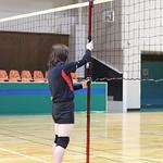 バレーボールネットの張力と高さの測定器の写真