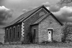 abandoned schoolhouse on Ruth Road in Michigan's Thumb (TAC.Photography) Tags: monochrome blackandwhite bw school oneroomschool schoolhouse abandoned abandonedschool abandonedoneroomschool thumb michigan rural ruthrd d7500 nikon nikoncamera tomclarknet tacphotography ruralamerica historicstructure