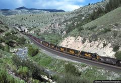 Six Pack in Price Canyon (jamesbelmont) Tags: riogrande drgw pricecanyon kyune emd sd40t2 tunnelmotor coal helpers swinghelper railroad railway train locomotive