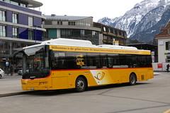 2019-02-09, Die Post, Interlaken West (Fototak) Tags: autobus bus autobusélectrique postauto carpostal berneroberland switzerland interlaken ebusco ligne102 10663