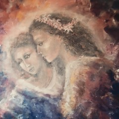 726 (Cheryl Gaer Barlow) Tags: impressionistic figurative art paintings angel heaven spiritual angels