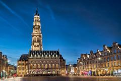 Le beffroi d'Arras (nietsab) Tags: arras beffroi grand place monument cityscape haut de france nord pas calais medieval nuit night nietsab sony a7 28 70 blue hour heure bleu