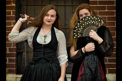 Active & Passive (Whitney Lake) Tags: hannibalsteampunkfest2018 girls women costume cosplay vintage retro victorian steampunk