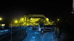 bln   gelb zu blau (stoha) Tags: gelb giallo yellow blau blu azzuro blue azur icc berlin berlincharlottenburg charlottenburg autobahn motorway autostrada bab bundesautobahn kaiserdamm westend messe messeberlin berlino berlijn deutschland germania germany kongresszentrum congresscenter stoha soh