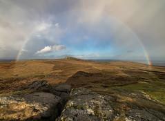 Mr Bow-jangles (http://www.richardfoxphotography.com) Tags: sunsetrainbow rainbows rainbow haytor saddletor rainy stormy clouds outdoors sky