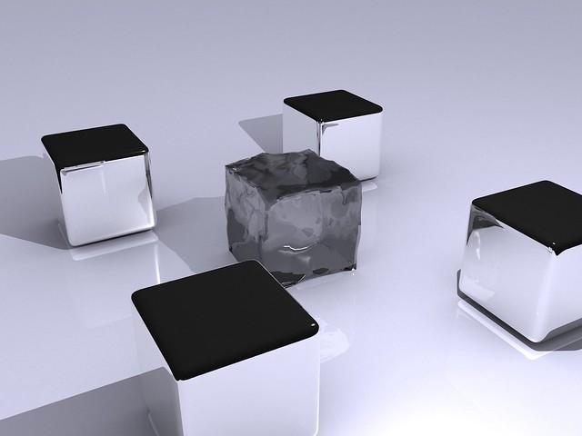 Обои кубы, металл, блеск, тень картинки на рабочий стол, фото скачать бесплатно