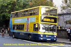 Route 32X, Malahide to UCD, (Belfield), Dublin Bus, AV286, October 2017 (Shamrock 105) Tags: dublin dublinbus clontarfgarage malahide portmarnock ucd volvo volvob7ldd nassaustreet belfield busathacliath