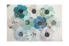 Flower Quilt  - WIP (balu51) Tags: patchwork sewing quilting stashsewing quilt flowerquilt wip hexagons scraps scrapquilt green teal blue babyblue black februar 2019 copyrightbybalu51