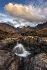 Fairy Pools, Glen Brittle, Isle of Skye, Scotland (MelvinNicholsonPhotography) Tags: fairypools glenbrittle skye isleofskye scotland waterfall mountains waterpipegully rocks peaceful clouds sky canoneosr
