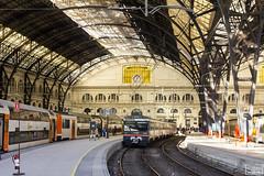 Estació (Escursso) Tags: 100m 124c 470 470100 adif barcelona frança regional renfe sattion estacio rail railway train tren