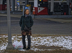 Life...As We Know It (raymondclarkeimages) Tags: rci raymondclarkeimages 8one8studios flickr usa google grain noise pixels outdoor people streetphotography 6d fullframe layers clothing canon 70200mm highiso effect process life everydaylife plastic winter snow cold