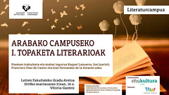 cartel jornadas poesia (EHUkultura) Tags: lecturacomentadadepoemasydebatequecontaráensucartelconjonjuaristi auroraluque pacodíazdecastroyjoséfernándezdelasota salón de grados la facultad bbaa