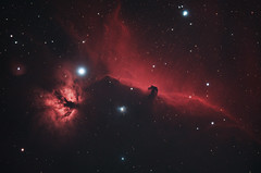 The Horsehead & Flame (AstroBackyard) Tags: horsehead nebula astrophotography space astronomy stars night sky photography colorful universe cosmos asi294 skywatcher esprit telescope refractor