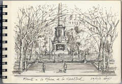 Plaza de la Lealtad. Madrid (f.gómezcorisco) Tags: dibujo rotulador madrid castejao urbansketchers apunte boceto arquitectura cuaderno eu