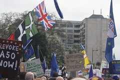 Put it to the People March (lazy south's travels) Tags: london england english britain british uk flag protest march banner
