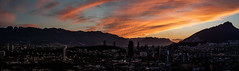 Panorama - Poniente (gyogzz) Tags: panoramic sunset monterrey nuevo león mountain montaña sun cloudy clouds sony a7sii alpha camera time lapse lapso bulbo