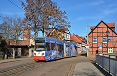 Halberstadt, Gröperstraße 25.02.2019 (The STB) Tags: halberstadt germany deutschland tram tramway strassenbahn strasenbahn streetcar publictransport citytransport öpnv
