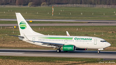 Germania B737 (Ramon Kok) Tags: 737 737700 avgeek avporn aircraft airline airlines airplane airport airways aviation b737 boeing boeing737 boeing737700 dablb dus dusairport dusseldorf dusseldorfairport eddl gmi germania germany st