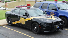 Michigan State Police (Emergency_Spotter) Tags: dodge charger dodgelaw fca steelies sedan gumball cherry cherrylight michigan state police msp petoskey classic 100th anniversary dual spots