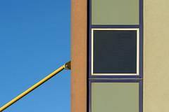 Facade with yellow bar (Jan van der Wolf) Tags: map185308v bar facade yellow stang gevel window geometric geometry geometrisch raam rijswijk