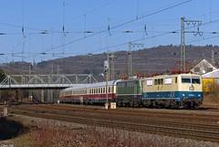 111 001-4 und E40 128 mit TEE-Sonderzug in Hagen-Hengstey, 12.03.2015 (-cg86-) Tags: dbmuseum koböenzlützel br111 e40 111001 hagenhengstey rheingold sonderzug