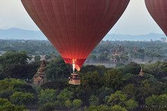 Bagan,Myanmar (Neal J.Wilson) Tags: hot air balloon ballooning myanmar burma asia temples buddhisttemple buddhism stupa bagan travel travelling
