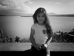 Ani | Sevan, Armenia (maryduniants) Tags: girl child sevanlake blackandwhite portrait landscape lake sevan armenia
