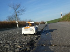 On the sunny side of the road (captain_joe) Tags: sooc toy spielzeug 365toyproject lego minifigure minifig moc car auto 5wide bmw 2002 ti touring strase road mikethemechanic