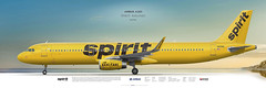 Airbus A321 Spirit Airlines (rulexy) Tags: posterjetavia aviation airliner aircompany airlines airline airtransport airplane jetliner jet aviationlovers avgeek airside aviationart instagramaviation civilaviation aircraftillustration worldairlines profileprints