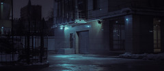 Garage. (igor.relsov) Tags: shots cineminer nightphotography lamp car cars streets mystic cinematography street streetphotography night light cinematic cinema strange evening photography