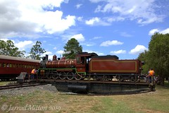 Going For A Spin (Mittens_97) Tags: c17steam c17974 c17brownbomber brownbomber brown steamtrain steamlocomotive steam railway maryvalley maryvalleyrattler qld queensland queenslandtrains queenslandrail locomotive train australia heritage historic turntable spin
