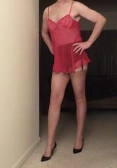 IMG_2031 (yumyumtv) Tags: crossdresser legs nylons nightie